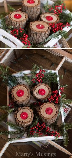 25 DIY Rustic Christmas Decoration Ideas & Tutorials - IdeaStand