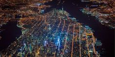 New York City At Night - Aerial Photos of New York City