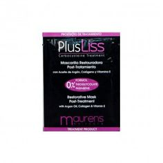 MASCARILLA RESTAURADORA 12 ML. Rica en Aceite de Argán, Colágeno y Vitamina E, hidrata profundamente el cabello.