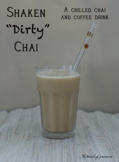 Cold brewed coffee or espresso is added to chai tea for a delicious chilled drink.