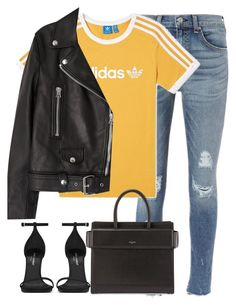 """""""Untitled #3093"""" by elenaday ❤ liked on Polyvore featuring rag & bone, adidas, Givenchy, Yves Saint Laurent and Acne Studios"""