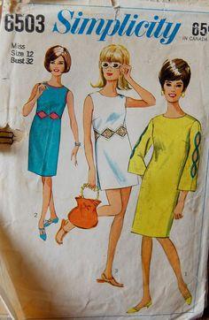 Vintage 1966 Simplicity Dress Pattern 6503 by NostalgiaVintage2, $13.50