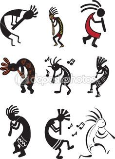 kokopelli's. The fact that no one realizes that this is a fertility image and the figure is supposed to posess a huge penis is hilarious to me. Please continue to tattoo yourselves with it.