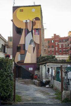 StreetArt Roma: Straniera | Alexey Luka | 2014 | Zona: Torpignattara | #art #streetart #roma