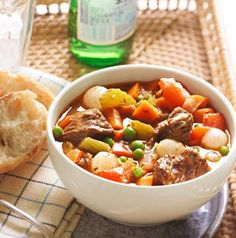 Our recipes for warm-and-comforting soups include crowd-pleasers such as beef stew, corn chowder, chicken noodle soup and more.