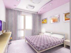 paris designs | purple POP false ceiling designs for bedrooms with illuminating ...