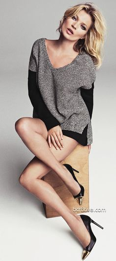 Kate Moss From the Mango 2012 Winter Collection✤