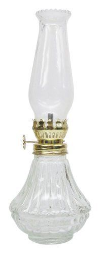 Antique with Amber Glass Vermont Lanterns Brass Mini Small Oil Lamp 5.75