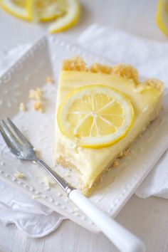 eat a slice of french lemon cream tart Lemon Desserts, Köstliche Desserts, Lemon Recipes, Tart Recipes, Delicious Desserts, Dessert Recipes, Cooking Recipes, Yummy Food, Dessert Healthy