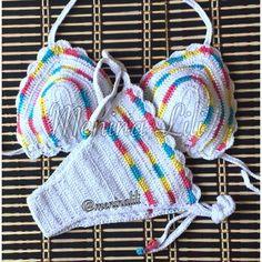 Biquíni de Crochê Colors