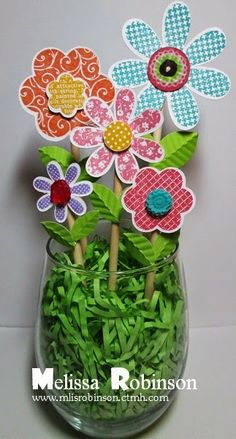#CTMH #hooraybouquet stamp set  The least expensive bouquet of flowers I have ever received.  :)
