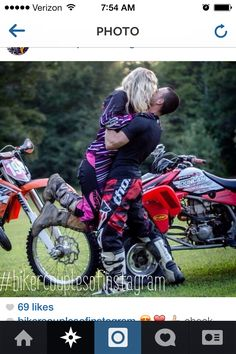 nothing like rolling across the finish line into your boyrfriends arms! moto love