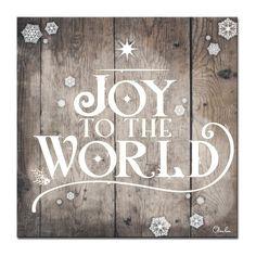 Landscape Bricks, Canvas Wall Art, Canvas Prints, Canvas Canvas, Christmas Artwork, Cozy Aesthetic, Small Canvas, Joy To The World, Word Art