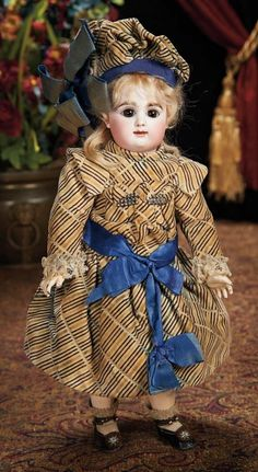 The Lifelong Collection of Berta Leon Hackney: 390 Early Model French Bisque Bebe by Rabery and Delphieu with Signed Rabery Shoes