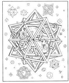 3D Coloring Pages for Adults submited images | Pic 2 Fly
