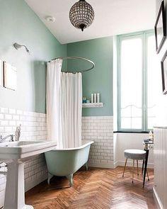 menta -bathroom-banheiro-verde