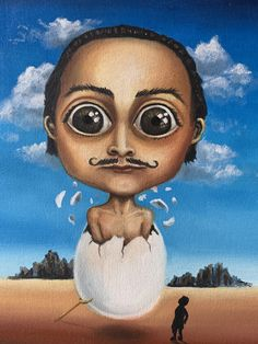Childhood, Painting, Fictional Characters, Art, Salvador Dali, Art Background, Infancy, Painting Art, Paintings