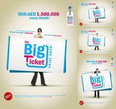 The Big Ticket These ads were made for Abu Dhabi duty free shop prize draw.  #Advertising #arabdesigners #Jordan #Amman #follow4follow #followMe #MoKhatib #AbuDhabi #graphicDesign #Dubai