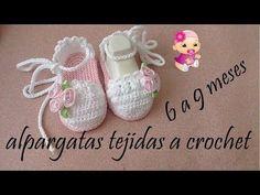 alpargatas tejidas a crochet - YouTube