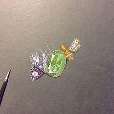 Design by @edd2256 #jewelerydesigner #jewelryrendering #jewelry #bee