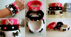 Knitted Bracelets KB 11 WINTER MOOD Set of 3 by Vladilenashandmade, $20.00