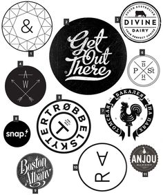 // Today's Trend // Circle Logos Is it just me or is there an enormous amount of circular logos out there right now. I'm also noticing that a lot of these circle logos are black & white and bun.