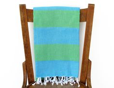Turkish Beach Towel PESHTEMAL Turquoise  SEAGRASS by Cotton Cocoon on Etsy