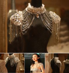 Vintage Lace Bridal Shoulder Necklace Chain Rhinestone Shoulder Strap Epaulet Necklace Earring Wedding Party Body Chain Jewelry-in Chain Necklaces from Jewelry & Accessories on Aliexpress.com | Alibaba Group