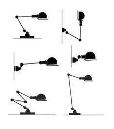 Jielde, Jean Louis Domecq, lampe industrielle - 1950 - France……réepinglé par Maurie Daboux۰⋱‿✿╮