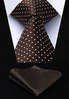 Polka Dot Silk Jacquard Woven Men Tie Pocket Square Handkerchief Set Suit - Shop Now - Polka Dotted All The Things Boutique Pocket Square Styles, Tie And Pocket Square, Pocket Squares, Polka Dot Tie, Wedding Ties, Gold Wedding, Tie Set, Well Dressed Men, Jacquard Weave