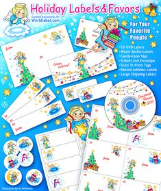 FREE - Christmas Angel_Set - labels