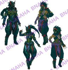 Nargacuga Armor by Bnaha