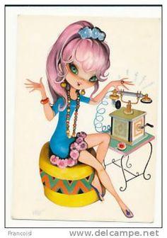 Postcards > Topics > Illustrators & photographers > Illustrators - Unsigned > Contemporary (from 1950) / telephone - Delcampe.net