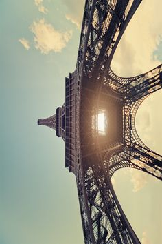Great, unusual angles: Eiffel Tower Paris #backlit #travel