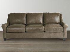 Custom Leather Ellery Great Room Sofa by Bassett Furniture