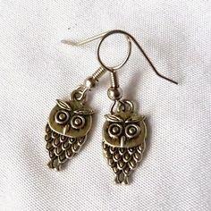 Owlet earrings by Richarme Jewelry Designs