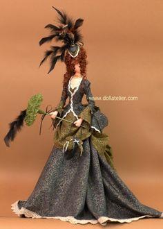madame Eleanor in Victorian dress  www.dollatelier.com