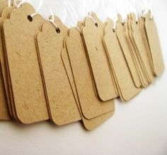 shabby chic rustic STAMP HOUSE blank SCALLOP swing hang Tags craft shop label   eBay