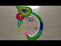 Ganesh chathurthi rangoli design with Easy Rangoli Patterns, Rangoli Designs Peacock, Easy Rangoli Designs Diwali, Rangoli Simple, Indian Rangoli Designs, Simple Rangoli Designs Images, Rangoli Designs Latest, Free Hand Rangoli Design, Rangoli Border Designs