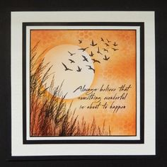 Sandma's Handmade Cards: Inkylicious Wings of Flight and Windswept stamps