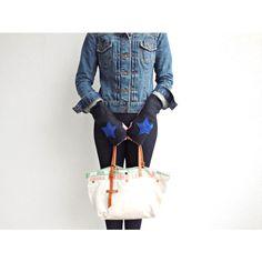Ohzie guanti guanti riciclati guanti Eco amichevole guanti ragazze... ($19) ❤ liked on Polyvore featuring accessories