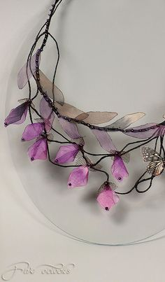 Floral fairy wedding necklaces by FiveOClocks