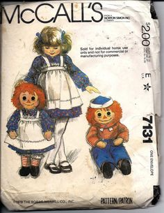 VTG Raggedy Ann & Andy Rag Doll and by DawnsDesignBoutique on Etsy, $10.00