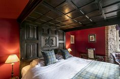 From charming themed bedrooms to four poster rooms, we're sure you'll be comfortable in our luxury Dalhousie Castle. Book your stay online and secure your stay in Scotland. Scotland Castles, Edinburgh Scotland, Stay In A Castle, Four Poster Bed, Bedroom Themes, Bed Frame, Tartan, King, Interiors