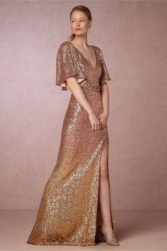 Sybil ombre gown, BHLDN
