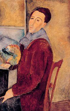 Amedeo Modigliani - Self Portrait (1919), oil on canvas