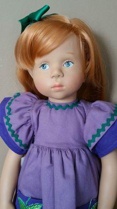 "18"" Gotz Sylvia Natterer Fanouche Doll SIDE GLANCING EYES Side Part Red Hair"