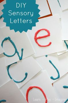 Easy method to make Montessori inspired sensory letters for pre-writing practice.