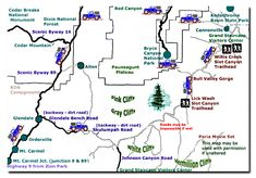 Grand Staircase-Escalante National Monument Map and mileage to the GSENM in Southern Utah. Visiting The Grand Canyon, Trip To Grand Canyon, Grand Canyon National Park, National Parks, Grand Staircase National Monument, Escalante National Monument, Utah Parks, Vacation Trips