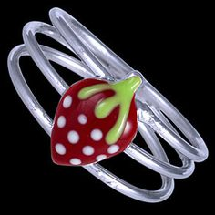 Lovely children's silver jewellery set with strawberry design